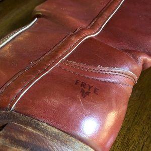 Vintage FRYE Women High Heel Tall Western Boots